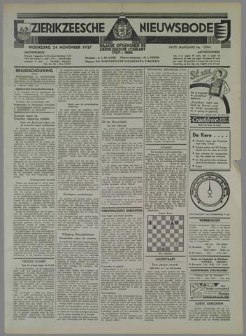 Zierikzeesche Nieuwsbode 1937-11-24