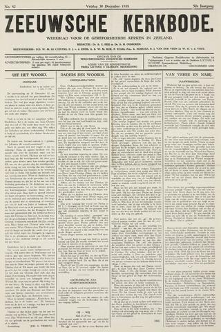 Zeeuwsche kerkbode, weekblad gewijd aan de belangen der gereformeerde kerken/ Zeeuwsch kerkblad 1938-12-30