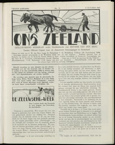 Ons Zeeland / Zeeuwsche editie 1927-10-08