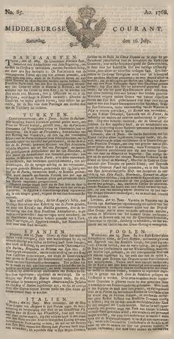 Middelburgsche Courant 1768-07-16