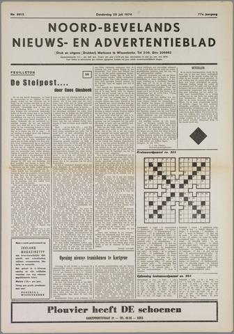Noord-Bevelands Nieuws- en advertentieblad 1974-07-25