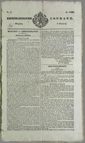 Zierikzeesche Courant 1838