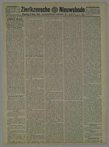 Zierikzeesche Nieuwsbode 1923-09-10