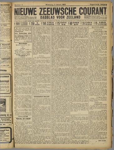 Nieuwe Zeeuwsche Courant 1923-01-03