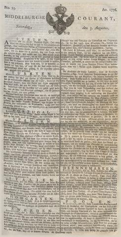 Middelburgsche Courant 1776-08-03