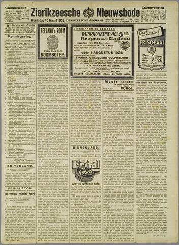 Zierikzeesche Nieuwsbode 1926-03-10