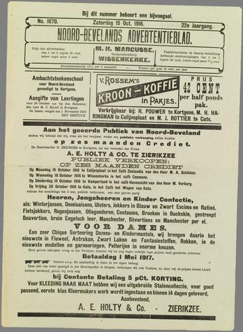 Noord-Bevelands Nieuws- en advertentieblad 1916-10-15