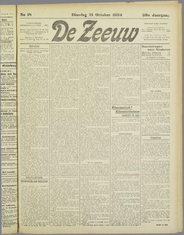 De Zeeuw. Christelijk-historisch nieuwsblad voor Zeeland 1924-10-21