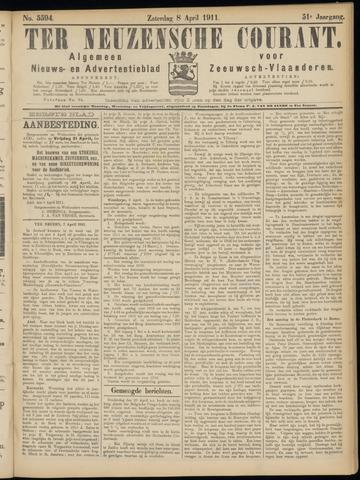 Ter Neuzensche Courant. Algemeen Nieuws- en Advertentieblad voor Zeeuwsch-Vlaanderen / Neuzensche Courant ... (idem) / (Algemeen) nieuws en advertentieblad voor Zeeuwsch-Vlaanderen 1911-04-08