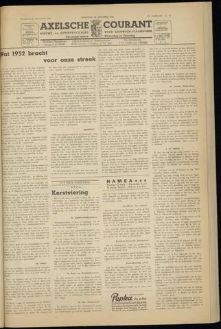 Axelsche Courant 1952-12-31