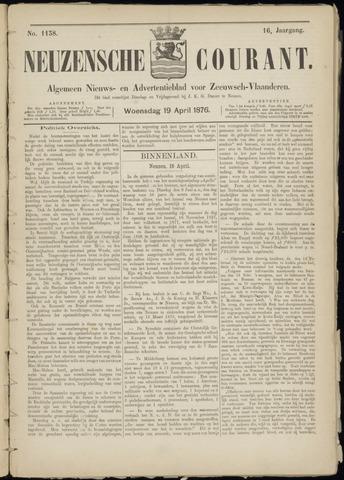 Ter Neuzensche Courant. Algemeen Nieuws- en Advertentieblad voor Zeeuwsch-Vlaanderen / Neuzensche Courant ... (idem) / (Algemeen) nieuws en advertentieblad voor Zeeuwsch-Vlaanderen 1876-04-19