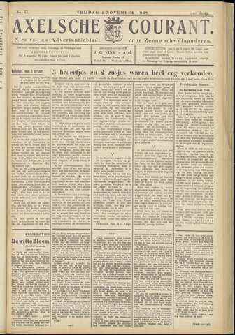 Axelsche Courant 1938-11-04