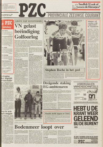 Provinciale Zeeuwse Courant 1987-07-21