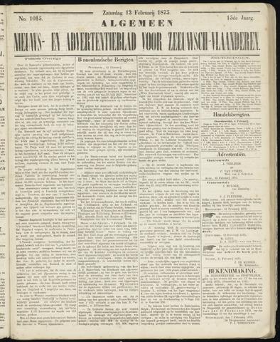 Ter Neuzensche Courant. Algemeen Nieuws- en Advertentieblad voor Zeeuwsch-Vlaanderen / Neuzensche Courant ... (idem) / (Algemeen) nieuws en advertentieblad voor Zeeuwsch-Vlaanderen 1875-02-13