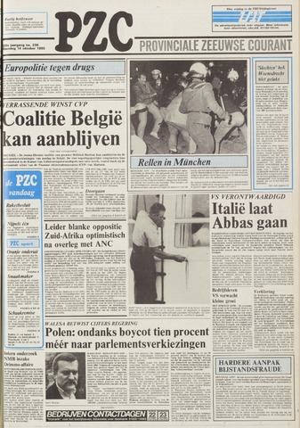 Provinciale Zeeuwse Courant 1985-10-14