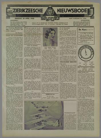 Zierikzeesche Nieuwsbode 1940-04-30