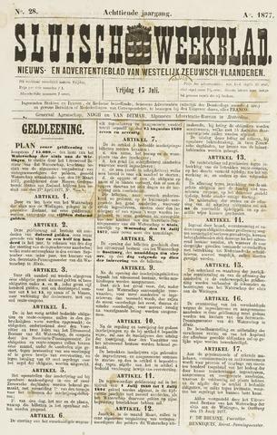 Sluisch Weekblad. Nieuws- en advertentieblad voor Westelijk Zeeuwsch-Vlaanderen 1877-07-06