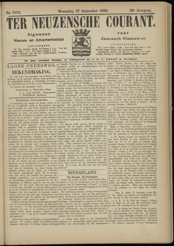 Ter Neuzensche Courant. Algemeen Nieuws- en Advertentieblad voor Zeeuwsch-Vlaanderen / Neuzensche Courant ... (idem) / (Algemeen) nieuws en advertentieblad voor Zeeuwsch-Vlaanderen 1882-09-27