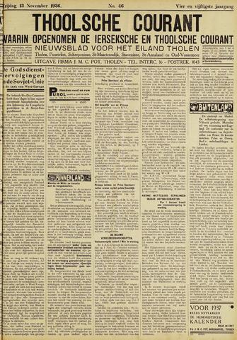 Ierseksche en Thoolsche Courant 1936-11-13
