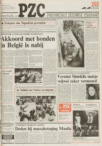 Provinciale Zeeuwse Courant 1983-09-22