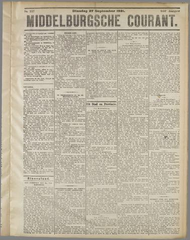 Middelburgsche Courant 1921-09-27