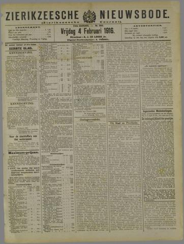 Zierikzeesche Nieuwsbode 1916-02-04