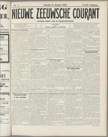 Nieuwe Zeeuwsche Courant 1906-01-16