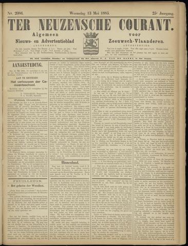 Ter Neuzensche Courant. Algemeen Nieuws- en Advertentieblad voor Zeeuwsch-Vlaanderen / Neuzensche Courant ... (idem) / (Algemeen) nieuws en advertentieblad voor Zeeuwsch-Vlaanderen 1885-05-13