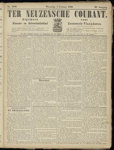 Ter Neuzensche Courant. Algemeen Nieuws- en Advertentieblad voor Zeeuwsch-Vlaanderen / Neuzensche Courant ... (idem) / (Algemeen) nieuws en advertentieblad voor Zeeuwsch-Vlaanderen 1890-02-05