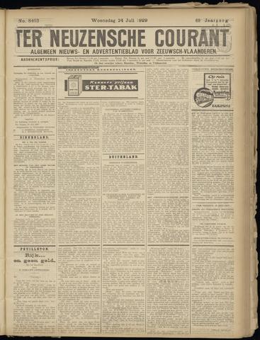Ter Neuzensche Courant. Algemeen Nieuws- en Advertentieblad voor Zeeuwsch-Vlaanderen / Neuzensche Courant ... (idem) / (Algemeen) nieuws en advertentieblad voor Zeeuwsch-Vlaanderen 1929-07-24