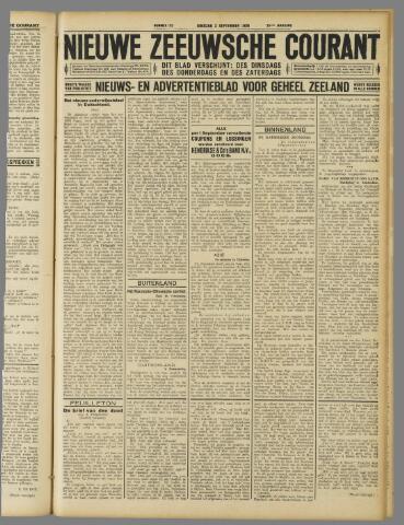 Nieuwe Zeeuwsche Courant 1929-09-03