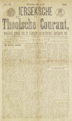 Ierseksche en Thoolsche Courant 1886-04-10