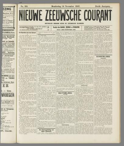 Nieuwe Zeeuwsche Courant 1907-11-14