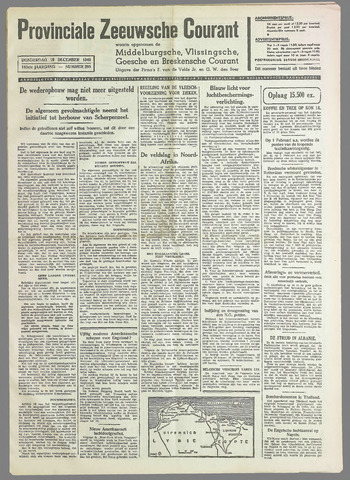 Provinciale Zeeuwse Courant 1940-12-19