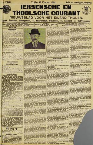 Ierseksche en Thoolsche Courant 1931-02-13