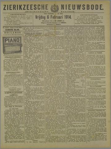 Zierikzeesche Nieuwsbode 1914-02-06