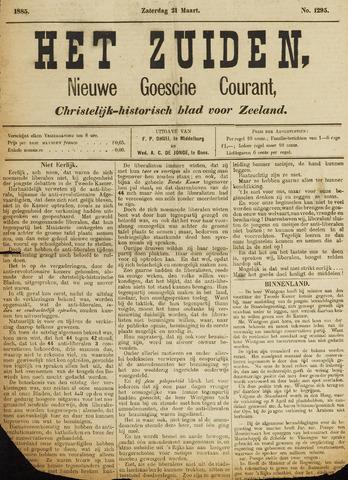 Het Zuiden, Christelijk-historisch blad 1885-03-21