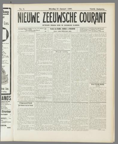 Nieuwe Zeeuwsche Courant 1908-01-14