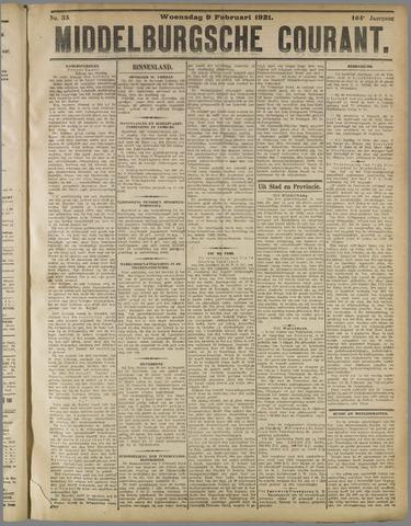 Middelburgsche Courant 1921-02-09