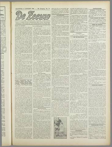 De Zeeuw. Christelijk-historisch nieuwsblad voor Zeeland 1944-01-17