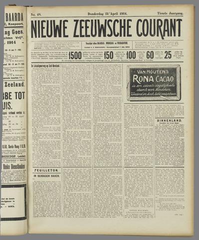 Nieuwe Zeeuwsche Courant 1914-04-23