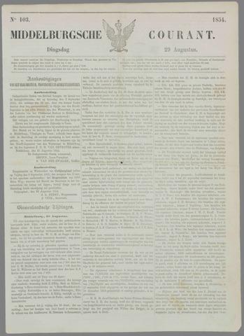Middelburgsche Courant 1854-08-29
