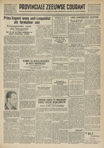 Provinciale Zeeuwse Courant 1950-03-27