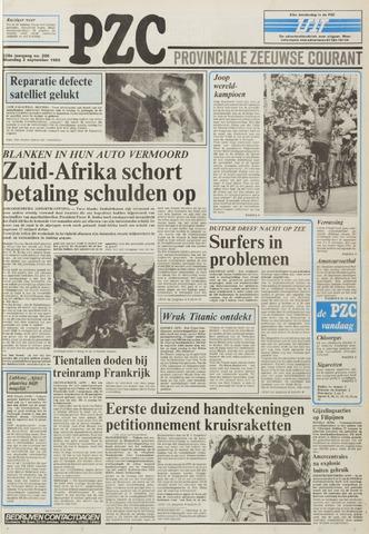 Provinciale Zeeuwse Courant 1985-09-02