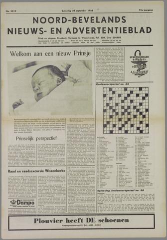 Noord-Bevelands Nieuws- en advertentieblad 1968-09-28