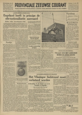 Provinciale Zeeuwse Courant 1951-07-31