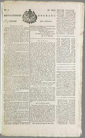 Zierikzeesche Courant 1820