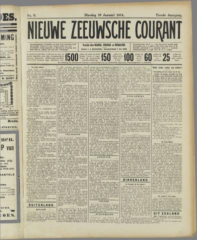 Nieuwe Zeeuwsche Courant 1914-01-20