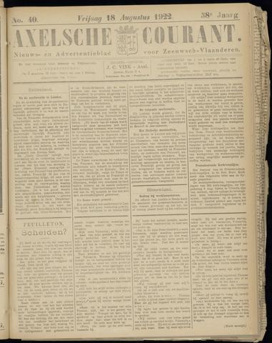 Axelsche Courant 1922-08-18
