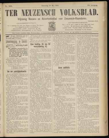 Ter Neuzensch Volksblad. Vrijzinnig nieuws- en advertentieblad voor Zeeuwsch- Vlaanderen / Zeeuwsch Nieuwsblad. Nieuws- en advertentieblad voor Zeeland 1913-05-10